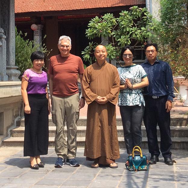Le Sen, Bob and Venerable Thich Thanh Huan.