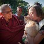 Portland Chapter Leader Sharon Methvin with Lama Zopa Rinpoche
